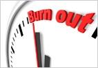 Burnout, emotional und geistig ausgepowert, Stress, krank, Überforderung