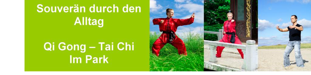 Qi Gong im Park, Entspannung, Heilgymnastik, Atmung, Bewegung