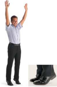 Zehenspitzenstand, Arbeitsplatz-Fitness, Gesundheitstraining, Zentralnervensystem Training